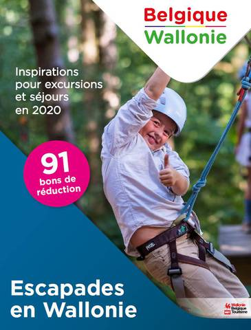 Couverture de la brochure escapades en Wallonie