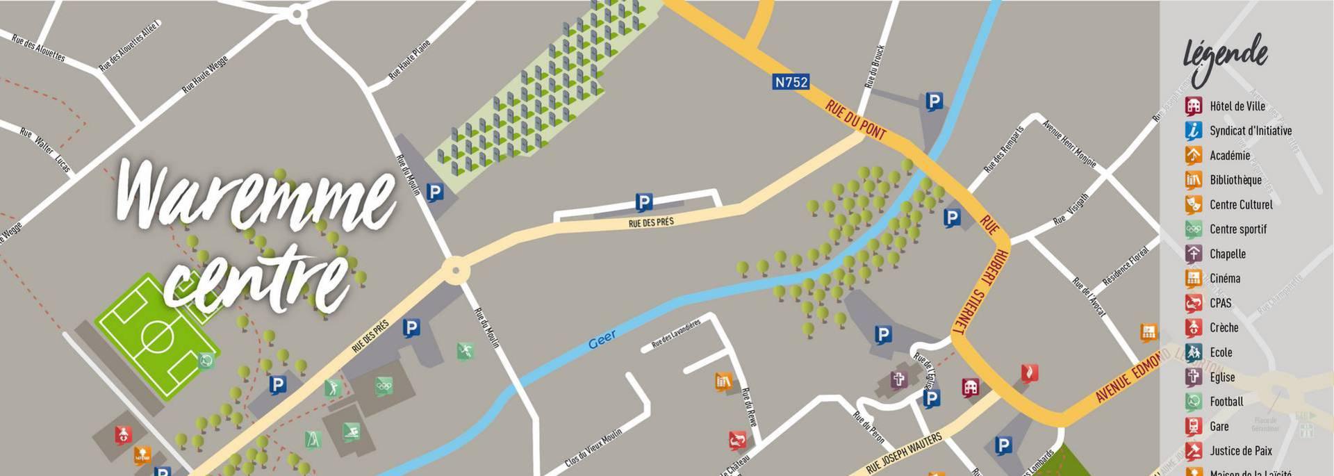 Plan de la ville de Waremme