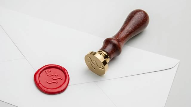 Lettre avec cachet en cire