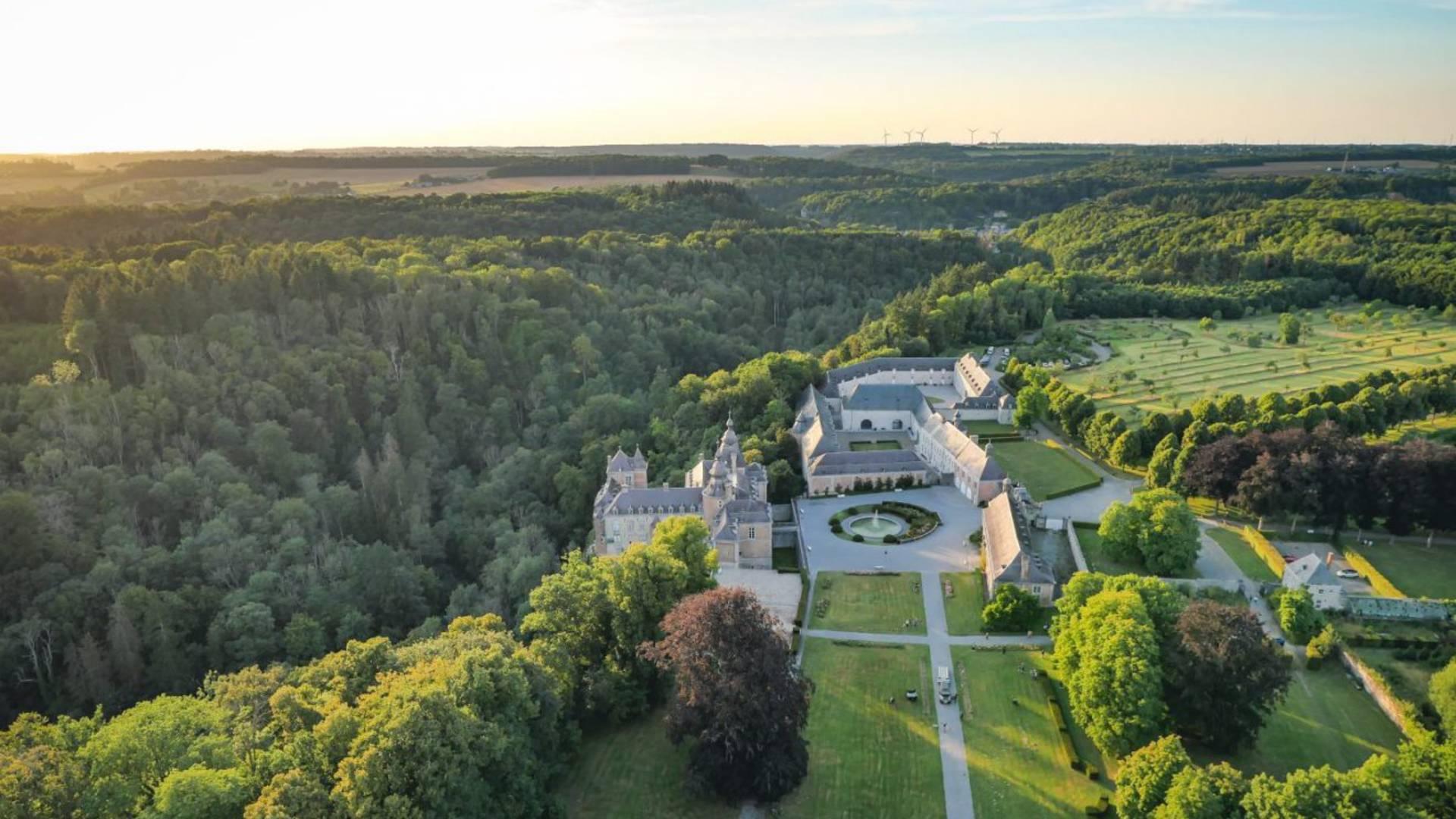 Château de Modave vu du ciel