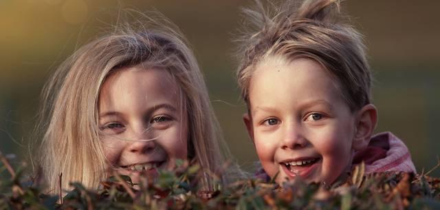Enfants derrière une haie - Image by Lenka Fortelna - Pixabay