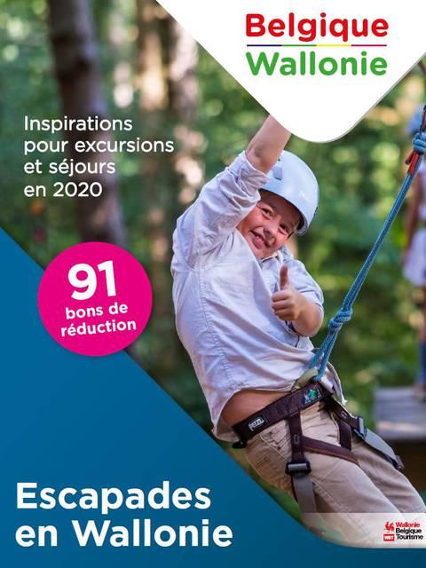Couverture de la brochure escapades en Wallonie