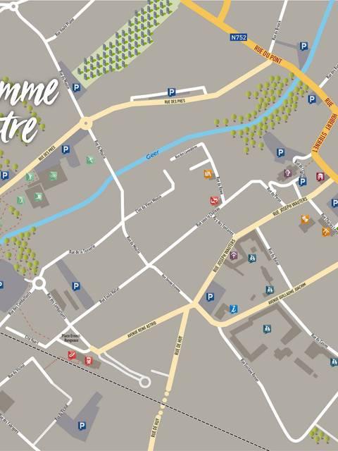 Plan du centre ville de Waremme