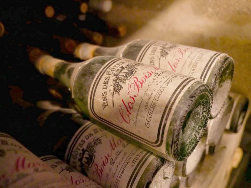 Bouteille de vin du Clos Bois Marie