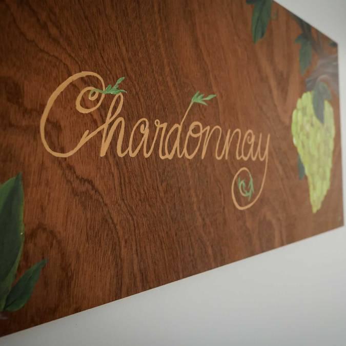 Panneau vin Chardonay