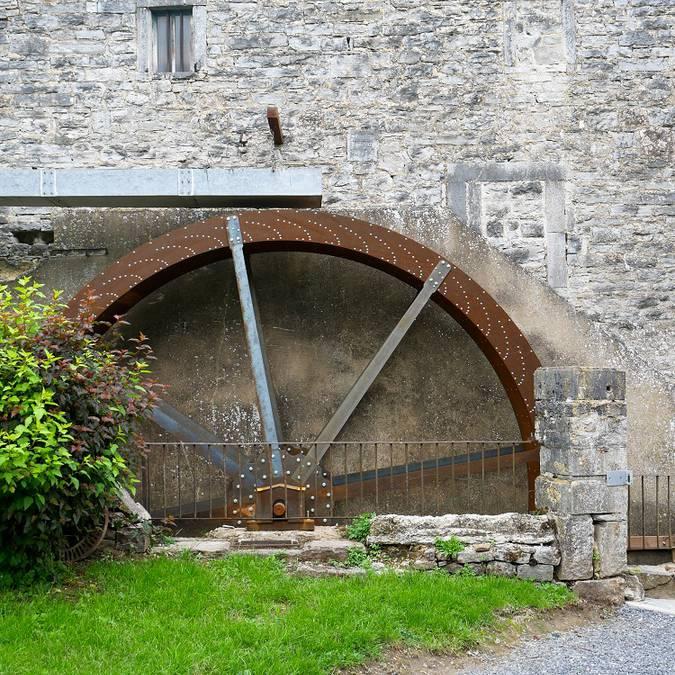 Roue à eau du Moulin Ferrières